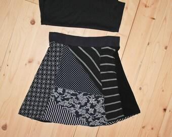 Women's XL Patchwork Gore Skirt
