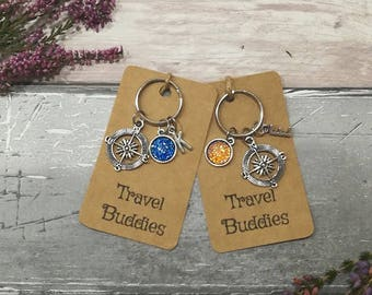 Travel Keyring, Travel Buddies Keyring, Personalised Keychain, Travelling Accessory, Travel Group Gift, Travel Keychain, Travel Gift