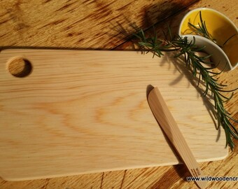 Tasmanian Celery Top Cheese Board with pate spreader
