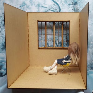 Diorama / roombox to climb 1/4 for BJD minifee dolls, ellowyne wilde, thunderbolts or others of the same size