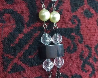 Magnetic bead and pearl bead 7-8in bracelet
