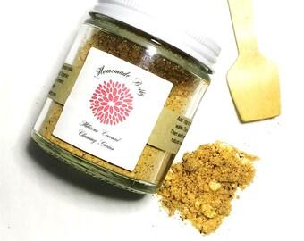 Organic Hibiscus Coconut Cleansing Grains, Acne Cleansing Grains, Vegan Face Scrub, Organic Cleanser