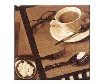 Napkin decor coffee mug