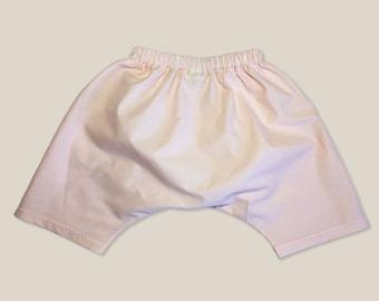 Soft Pink Organic Modern Children's Pants. Poplin Caravan Baby Pant.  Available in sizes preemie to 6 years.