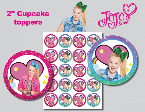 Jojo Siwa Cupcake Toppers Printable Digital File Non