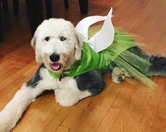 Tinkerbell Dog Costume, Dog Halloween Costume, Fairy Dog Costume, Pet Costume, Handmade Dog Costume, Custom Dog Costume, Little Dog Costume