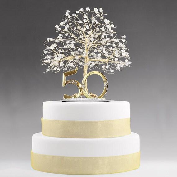 50th Anniversary Cake Topper Gift Decoration Birthday Idea