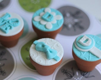 Elegant wedding Fondant Toppers - Perfect for Weddings, Anniversaries and Other Special Occassions