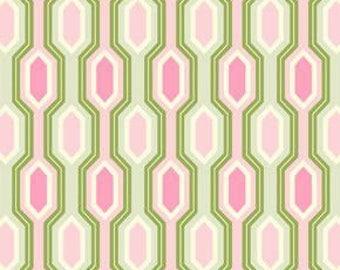 Heather Bailey Garden District, Geometric Print, OOP, Free Spirit Fabrics, 1/2 yard