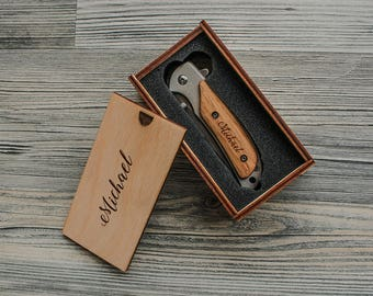 Engraved Knife Anniversary Gifts for Men Birthday Gift for Dad from Son Fathers Day Gift from Daughter Custom Gift for Him Boyfriend Gift