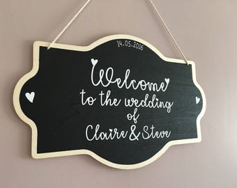 Welcome wedding sign, personalised wedding sign, welcome to our wedding, bride to be, wedding decoration
