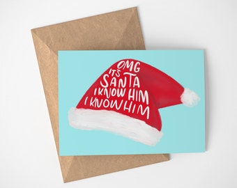 Santa Christmas Cards, Christmas Card Santa, Santa Card, Funny Holiday Card, Non Traditional Holiday Card, Holiday Card Funny, Xmas Cards