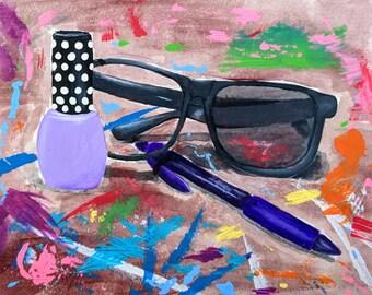 Pop Art Still Life, Summer Art, Home Decor, Abstract Wall Art
