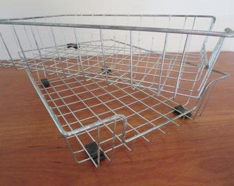 Wire Baskets Desk Accessories Paper Organizers Mid Century Modern