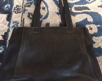 vintage Coach black handbag purse