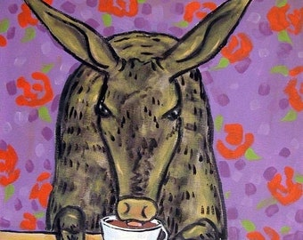 25% off Aardvark at the Coffee Shop Art Tile