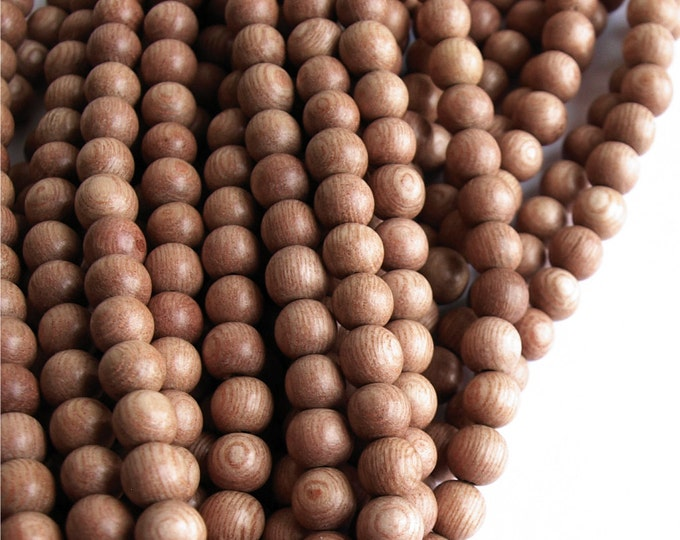 Wood Bead, Round 6mm, Rosewood - 16 Inch Strand (WDRD-06RS)