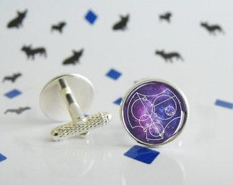 Dr.Who - Je t'aime en gallifreyen - Boutons de manchette et Pince à cravate - Special wedding - Geek gift