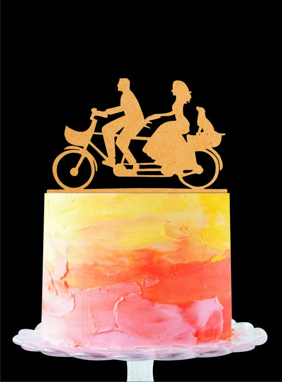 Bicycle Wedding Cake Topper Bicycle Cake Topper Couple Cake
