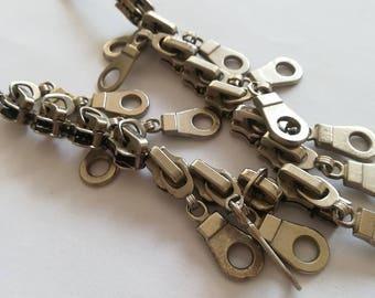 Zipper necklace - Zipper Jewelry - Valentines Gift