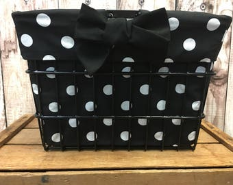 Large Polka Dot Basket Liner