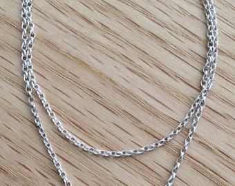 Silver Belcher Chain (Fine) with Hand-made Silver Clasp
