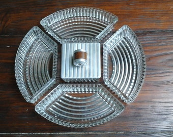 Art deco 1930 's/french/Vintage/set for a glass case.