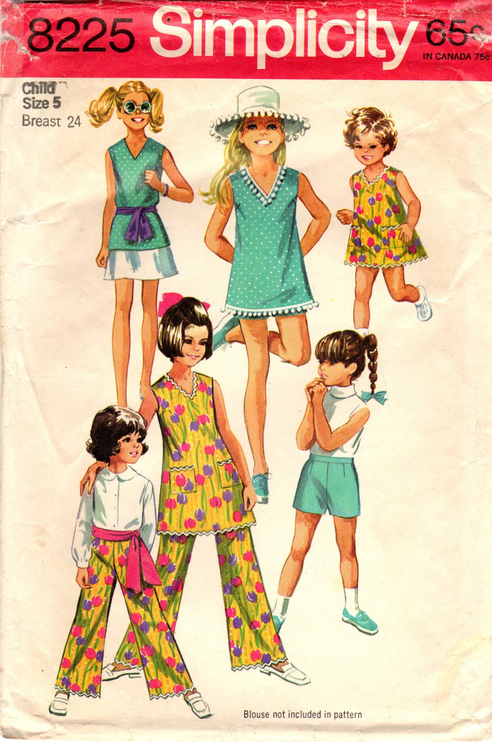 1960er Jahre Einfachheit 8225 Vintage Nähen