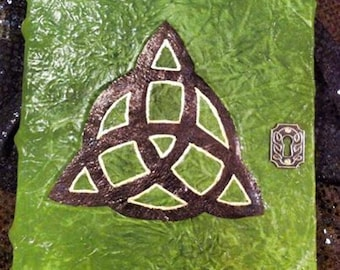 Green Leather Book of Shadows ~ 'Charmed Inspired'