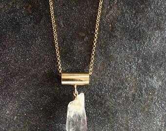 Quartz Point Necklace,Raw Stone Jewelry,Quartz Necklace Gold,Chunky Quartz Point,Crystal Point Jewelry,Crystal Necklace Gold,Raw Quartz Boho