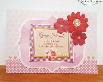 Good Friends Handmade Card
