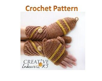 PDF Convertible Mitten Pattern, Fingerless Mitten Tutorial, Crochet Mitten Pattern, Diagonal Cuff Pattern,Glitten Tutorial, Instant Download