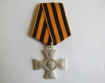 Cross of St George 3 nd class tape with gilt russia Military Medal