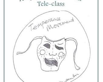 Temperance Movement Teleclass Recording and Workbook - self-development class using the tarot archetype of Temperance