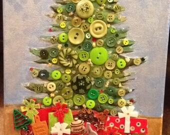 Christmas tree with lights 8x10