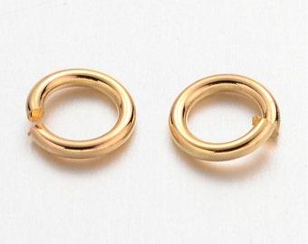Gold Jump Ring 6MM  QTY 200  (JR-201)