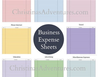 Instant download - Tax organization printables for small business and self employment taxes