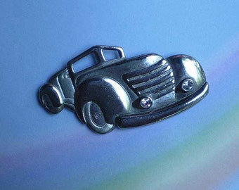 Vintage 80s Old Car Pin Retro 1940s Style
