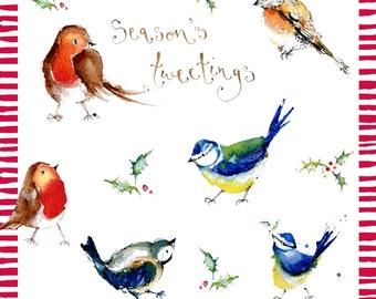 Handmade Robins Christmas Card
