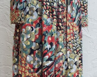 Vintage Stunning Floral Print Dress for Saks Fifth Avenue