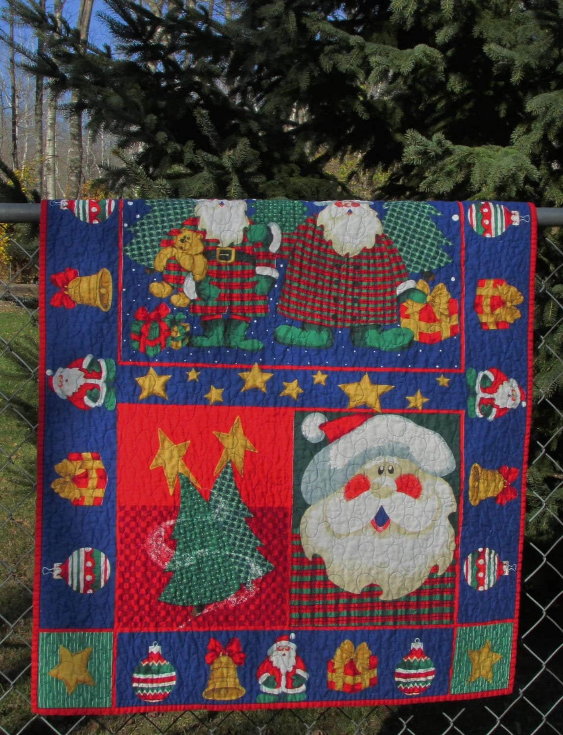Christmas Holly Jolly Santa Baby Quilt