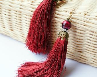 Marsal earryngs with tassels, Spring Earrings, Spring Jewelry, Colorful Tassel Earrings, Colorful Earrings, Tassel Earrings