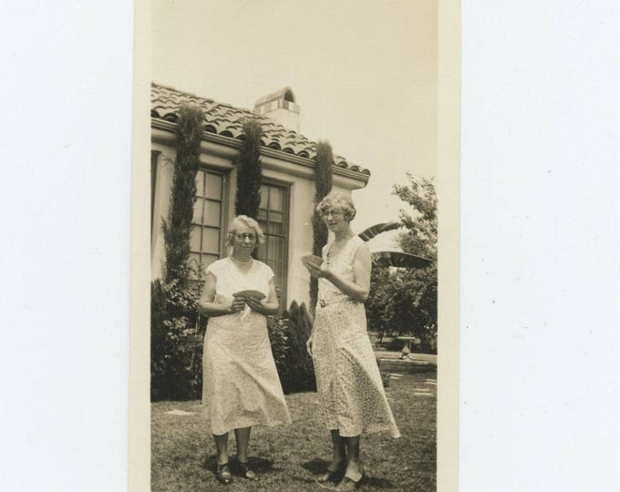 A Pair of Good Card Hands, c1930s: Vintage Snapshot Photo (712628)
