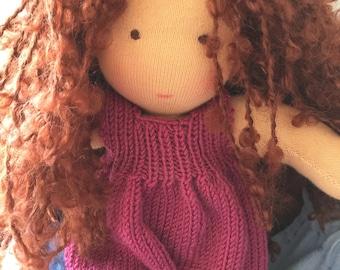 Doll, 100% handmade, eco-friendly material, unique piece