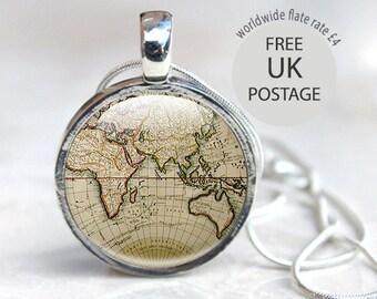 Globe Necklace - Old Globe Necklace - Antique Globe Glass Necklace (WMP1)