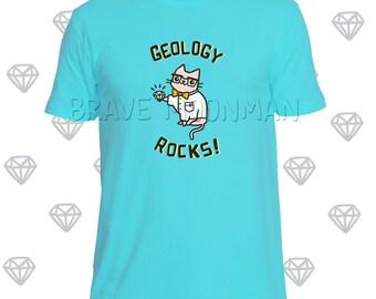 T Shirt Katze Shirt für Männer Geologie Felsen Tshirt Lehrer Tees für Lehrer T-Shirt Männer T-Shirt mit Spruch-t-Shirt mit Katze