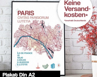 Poster - Paris map