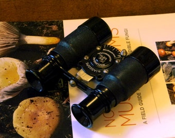 Cool Antique Binoculars Wollensak Biascope - Early Lever Focused Pocket Binoculars - Steampunk Style