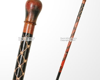 """35.5"""" Knob Style Tribal Eucalyptus Wooden Stick Handcrafted Walking Cane"""
