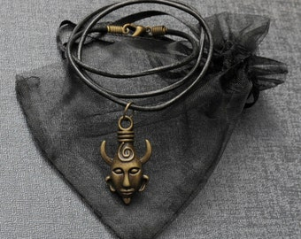 Supernatural Samulet necklace – Dean Winchester's protection amulet pendant on a leather cord – cosplay prop replica – jewelry / jewellery